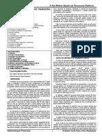 MTE - CB Administração Financeira e Orçamentária