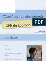 Cómo hacer un blog docente 2010