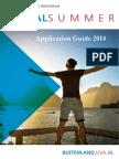 Global Summer Application Guide 2014
