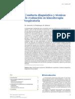 2012 Conducta Diagnóstica y Técnicas de Evaluación en Kinesiterapia Respiratoria