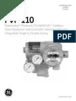 GEA 19525 Masoneilan FVP 110 Fieldbus Valve Positioner Specification Data
