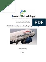 British Airways Segmentation, Targeting, Positioning