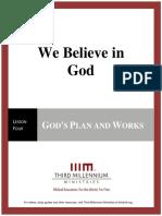 We Believe In God - Lesson 4 - Transcript