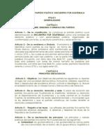 Estatutos de formación de Partido Político en Guatemala