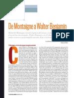 De Montaigne a Walter Benjamin