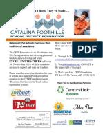 August CFSDF Newsletter
