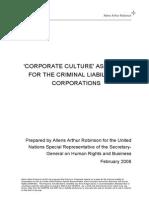 Allens Arthur Robinson Corporate Culture Paper for Ruggie Feb 2008