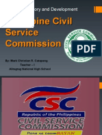 Civil Service Commission Report