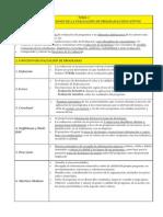 TEMA 1 CONCEPTO Y FUNCIONES DE LA EVALUACIÓN DE PROGRAMAS EDUCATIVOS