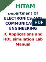 Jntuh Ic & Hdl Lab Manusl