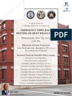 Emergency Town Hall on Rent Regulations