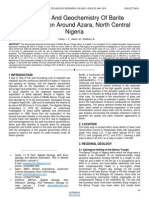 Petrology and Geochemistry of Barite Mineralisation Around Azara North Central Nigeria