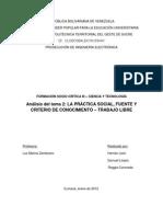 La Práctica Social, Fuente y Criterio