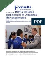 26-07-2015 E-consulta.com - Felicita RMV a Poblanos Participantes en Olimpiada Del Conocimiento