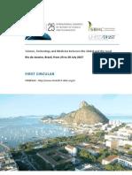 First Circular of the 25th ICHST - Rio de Janeiro - 2017-1