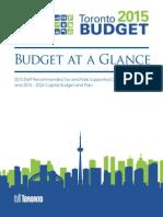 2015 City of Toronto budget