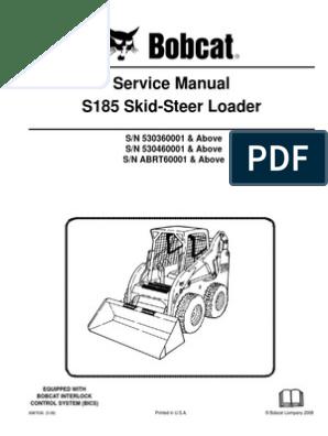 Bobcat s175 s185 Service Manual Skidsteer Loader | Elevator