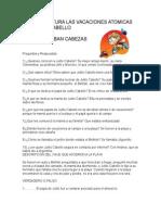 Guia de Lectura Las Vacaciones Atomicas de Julito Cabello