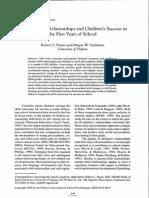 Relacion Docente-estudiantes en Los Primeros Años de Escuela_Pianta & Stulhman