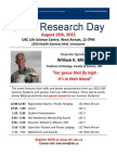 2015 Research Day Flyer
