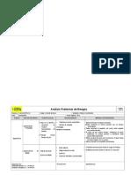 Análisis Preliminar de Riesgos Ergonomico 2 Tesis