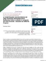 Revista Brasileira de Ciências Sociais - Gilberto Freyre