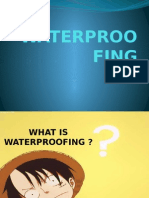 Introduction to Waterproofing