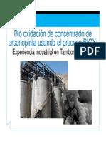 Biooxidación de Concentrado Aspy