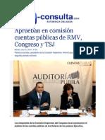 21-07-2015 E-consulta.com - Aprueban en Comisión Cuentas Públicas de RMV, Congreso y TSJ
