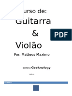 Curso de Guitarra e Violão