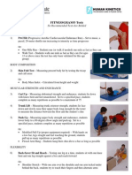 Fitness Gram Recommended Tests Handout