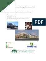 West End Neighborhood Strategic Revitilization Plan