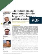 Metoologia Para Implementar Lean en Plantas Industriales