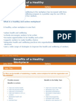 Benefits of a healthy workplace