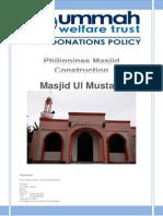 Phillipines Masjid Construction