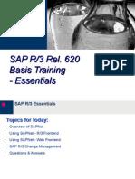 SAP R3 4.6 Basis Training - Day 2 - Essentials