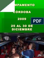 Campamento Córdoba 2009 (25 al 30 de diciembre de 2009)