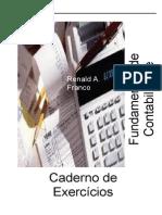 APOSTILA EXERCÍCIOS DE CONTABILIDADE - AJUSTADA 2013