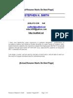 Resume Stephen H Smith