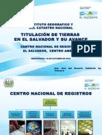 Titulacion de Tierras en El Salvador y Su Avance