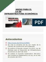 Presentación Ley de Alianzas para el desarrollo de infraestructura económica