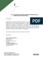 Adhesivo Epoxico Novafort en Presencia de Acido Sulfurico