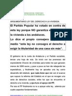 Argument a Rio Ley Del Derecho a La Vivienda