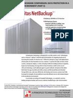 Veritas NetBackup 7.6 benchmark comparison