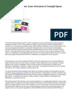 Cartucce Inkjet Toner Laser Istruzioni & Consigli Epson