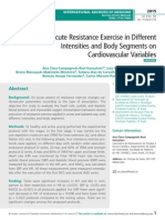 Effect of Acute Resistance Exercise in Different Intensities and Body Segments on Cardiovascular Variables