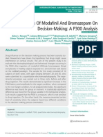 Effects Of Modafiil And Bromazepam On Decision-Making