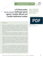 Eficacies of Echinocandins versus Azoles Antifungal agents against Candida albicans and Candida dubliniensis isolates