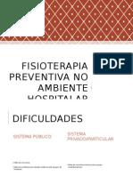 Fisioterapia Preventiva No Ambiente Hospitalar