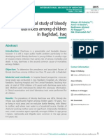 Epidemiological study of bloody diarrhoea among children in Baghdad, Iraq